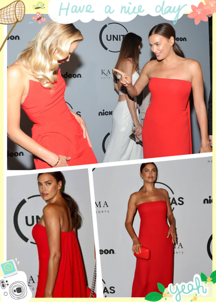 look rouge de Irina Shayk